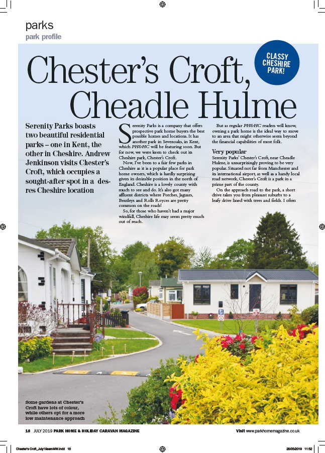 Park Home & Holiday Caravan Chesters Croft P1