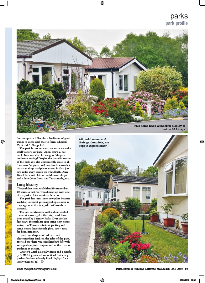 Park Home & Holiday Caravan Chesters Croft P2