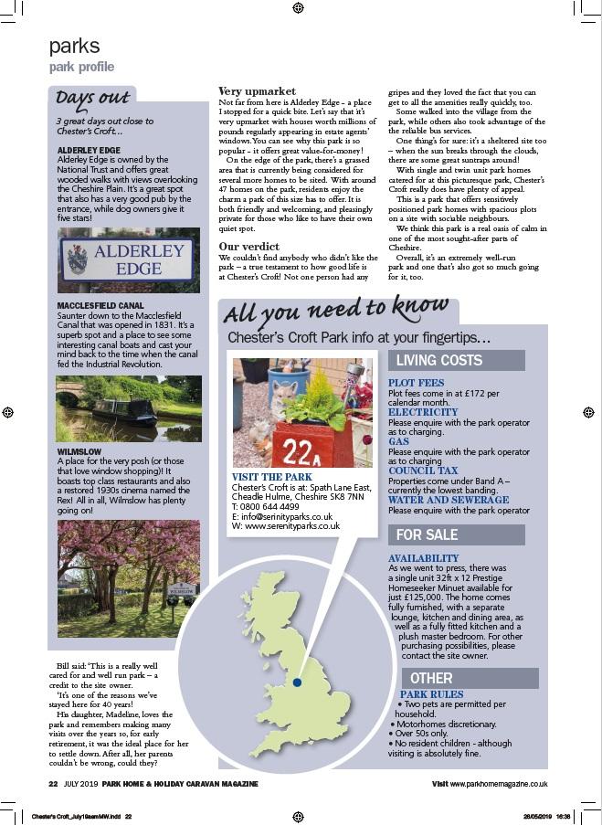 Park Home & Holiday Caravan Chesters Croft P4