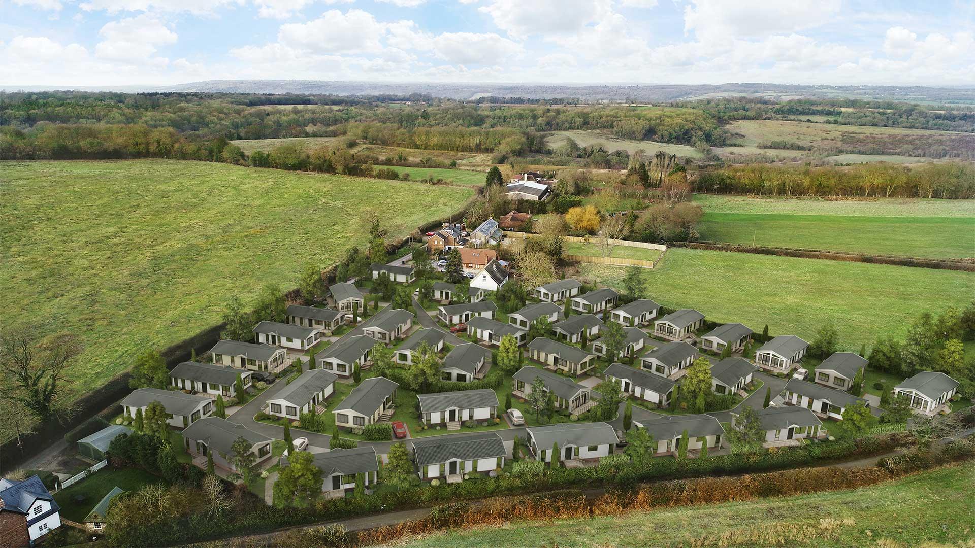 Kingsdown Meadow Aerial CGI