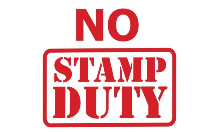 No Stamp Duty to pay
