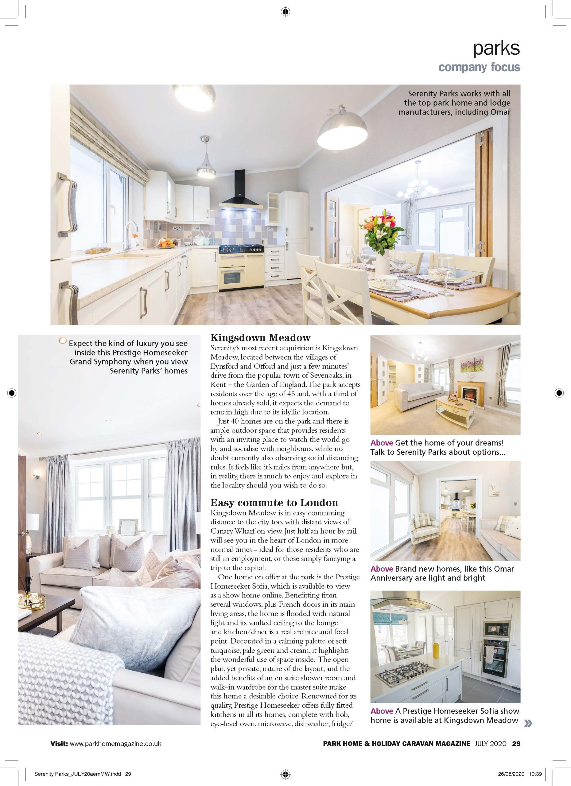 Park Home & Holiday Caravan Magazine Review Page 2
