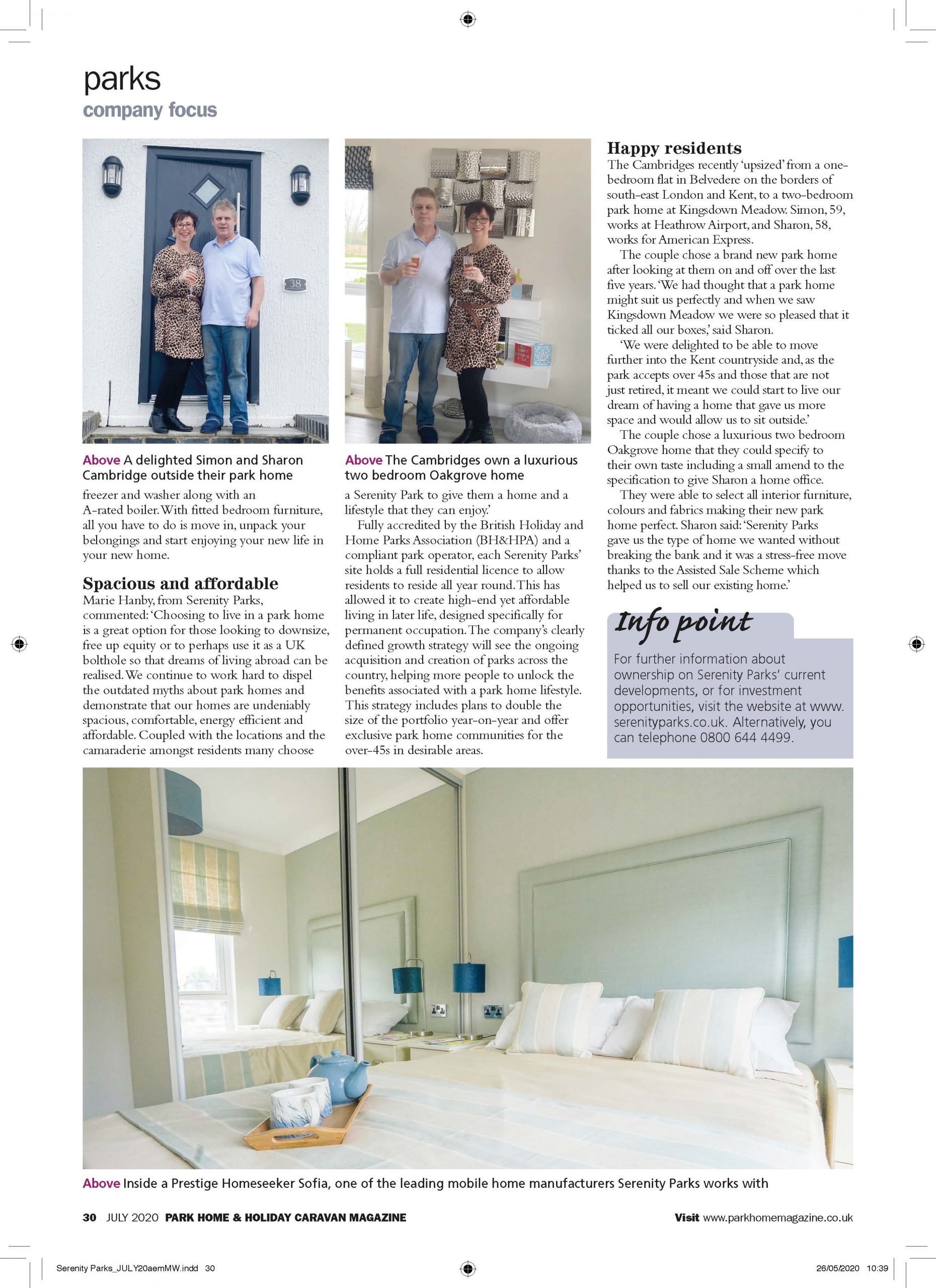 Park Home & Holiday Caravan Magazine Review Page 3