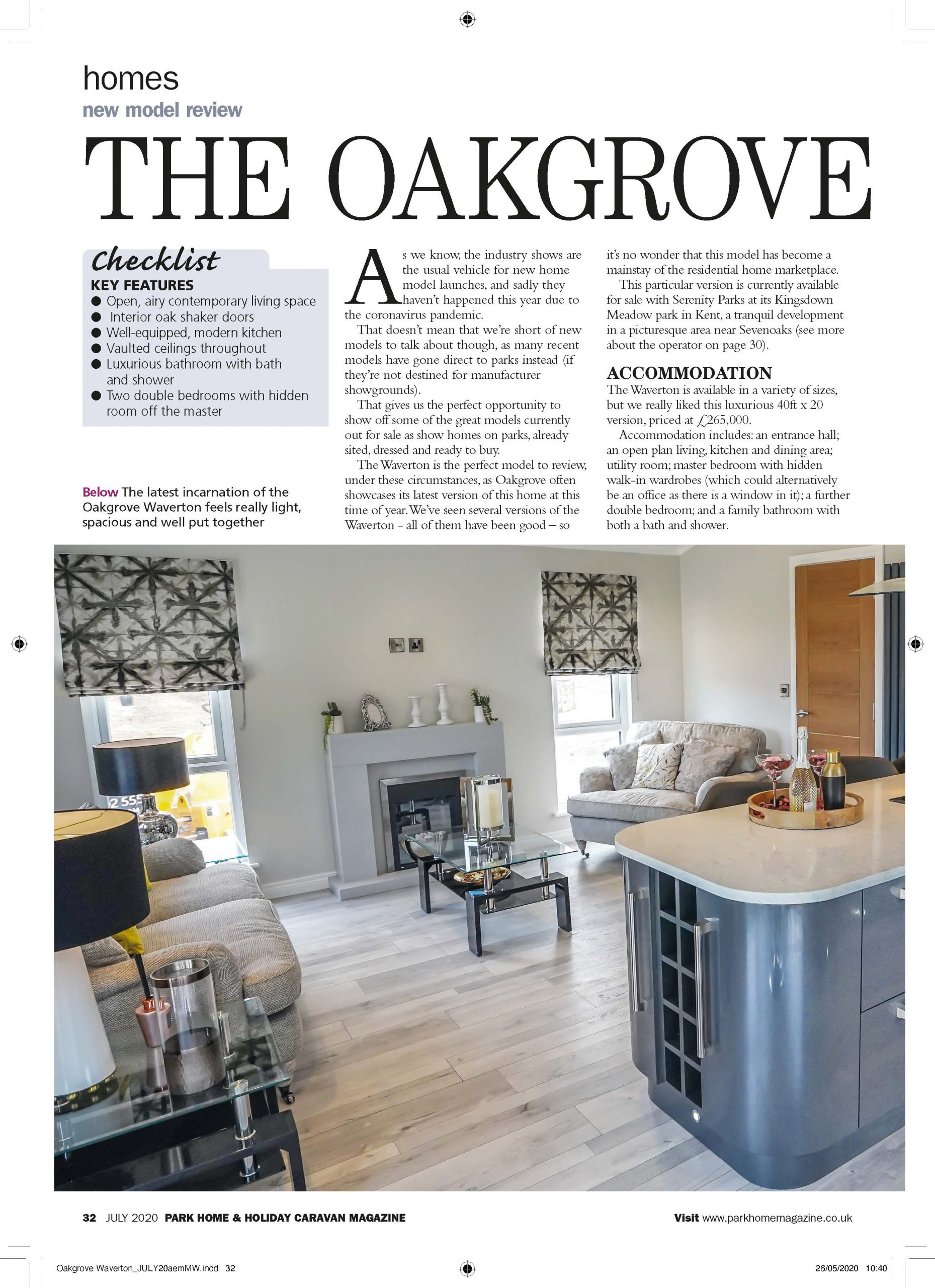 Park Home & Holiday Caravan Magazine Review Page 4