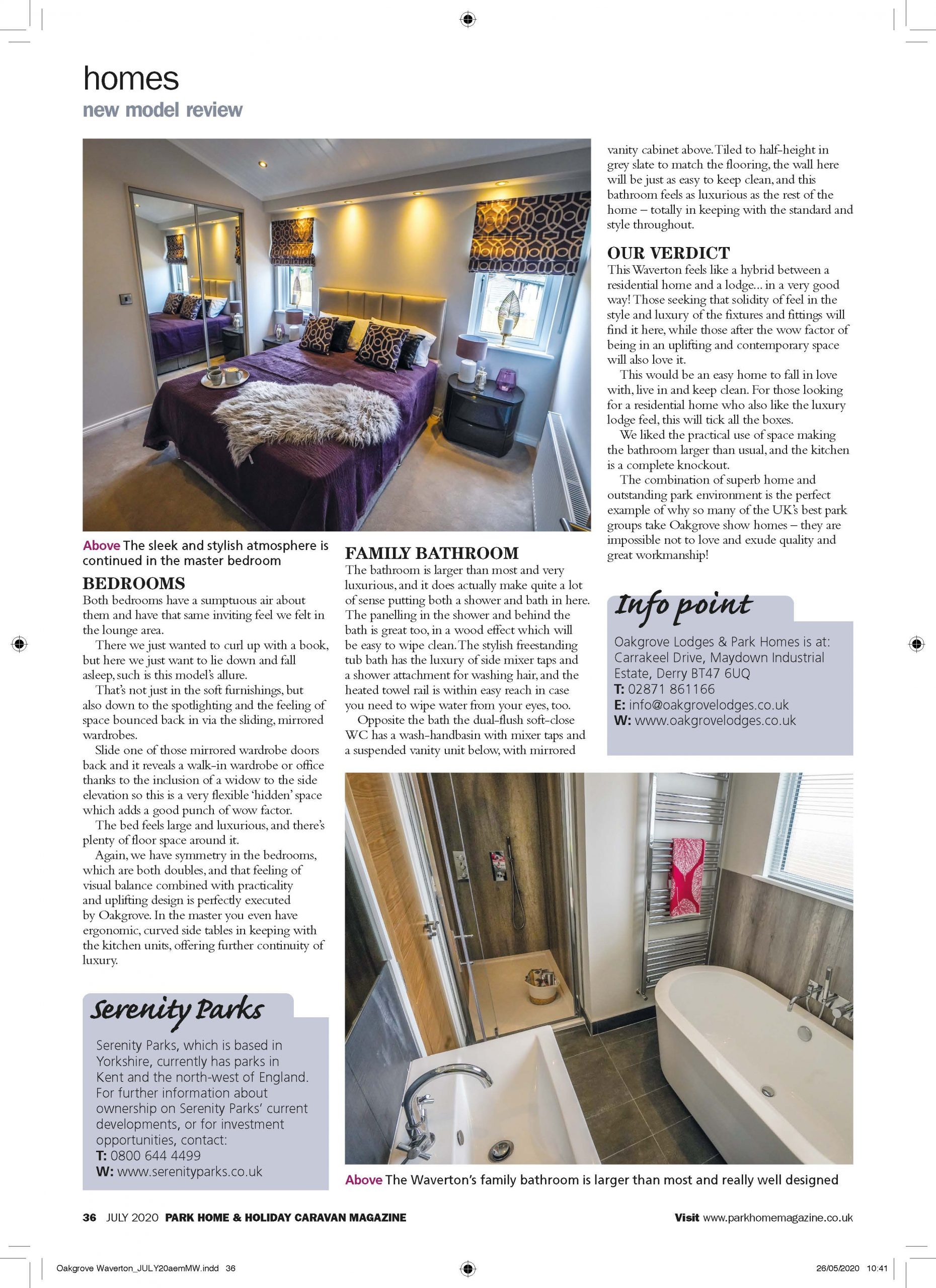 Park Home & Holiday Caravan Magazine Review Page 7
